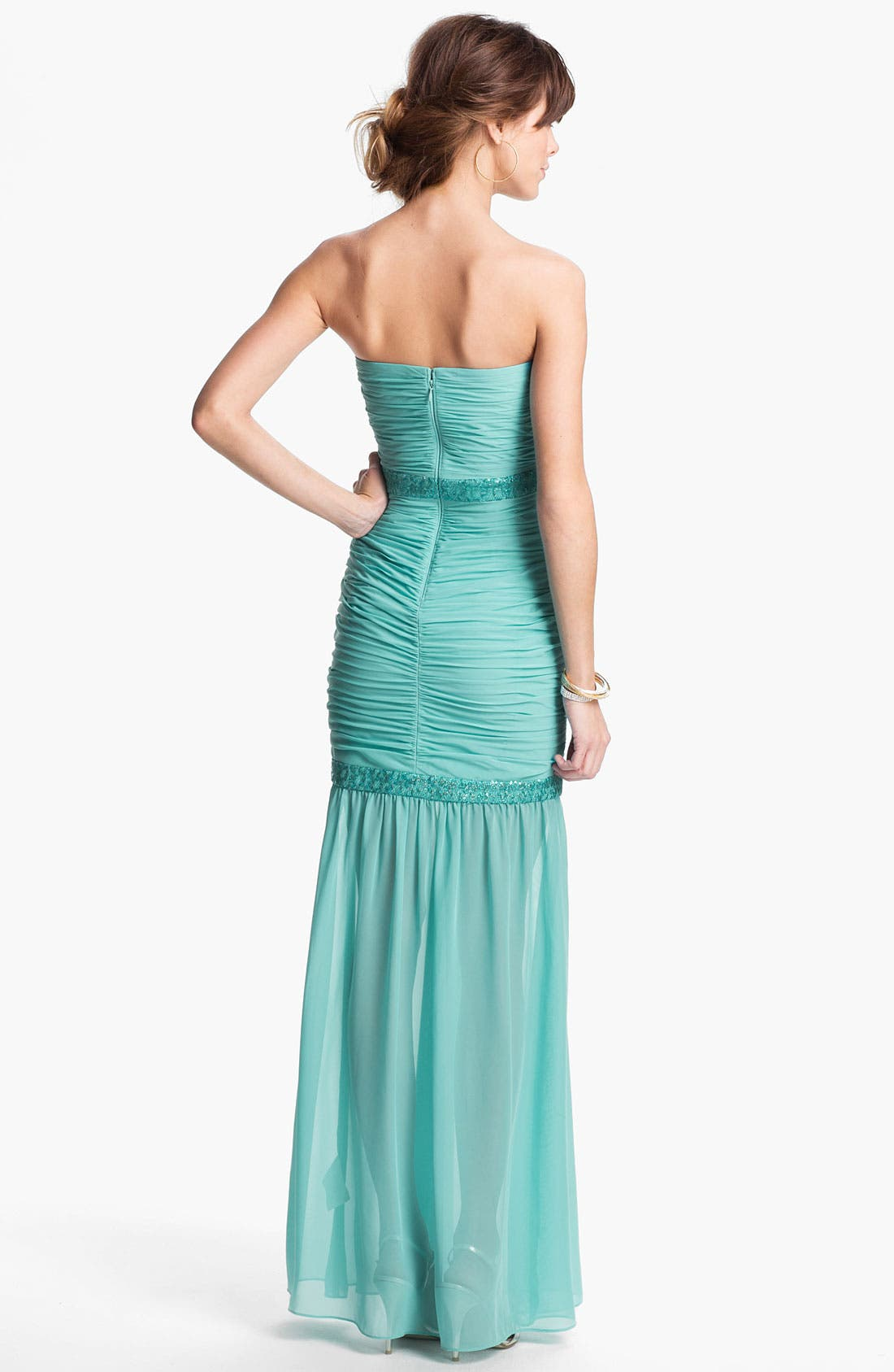Alternate Image 2  - Hailey by Adrianna Papell Embellished Chiffon Mermaid Dress (Online Only)