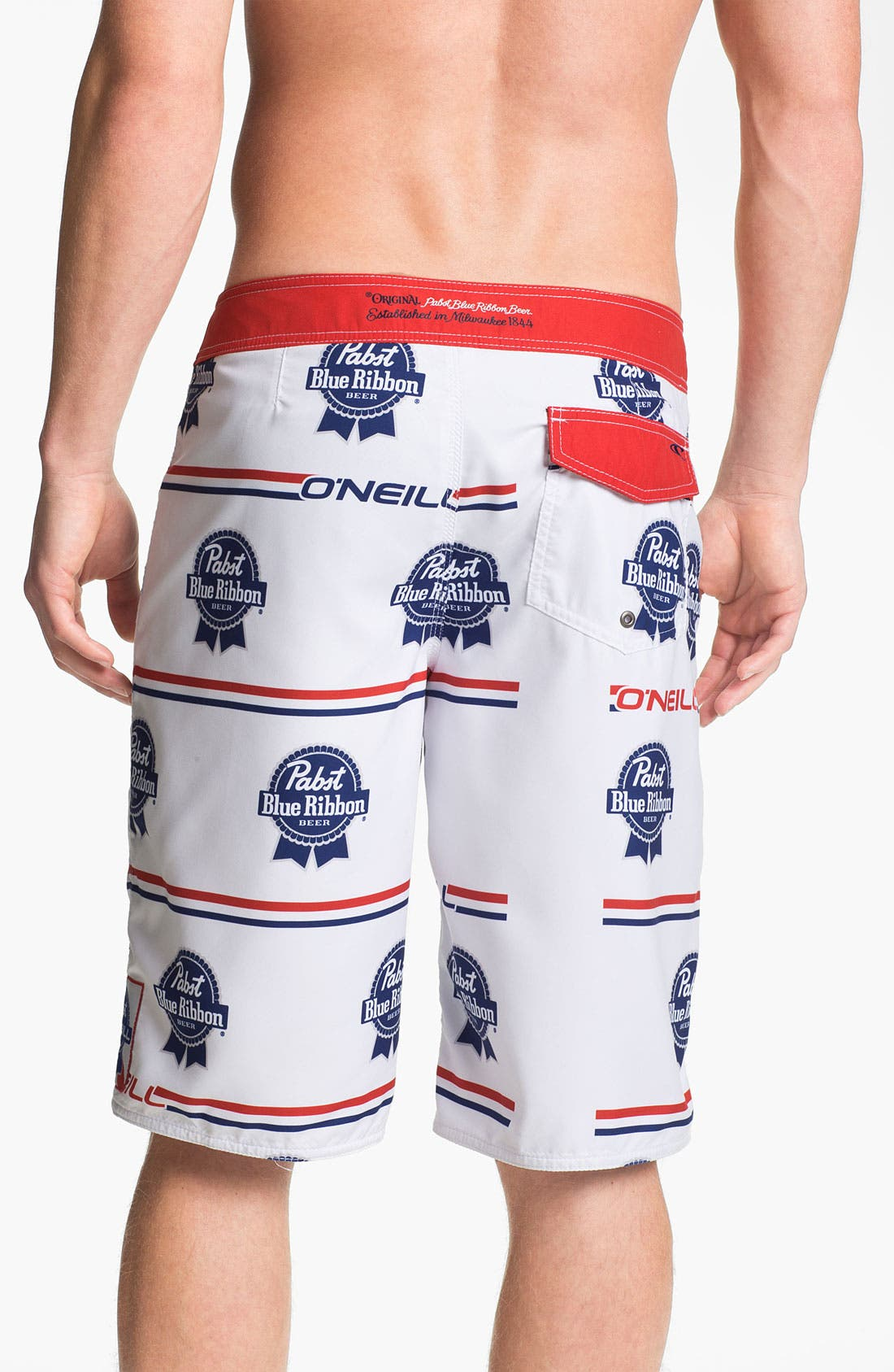 Alternate Image 2  - O'Neill 'PBR Logo' Print Board Shorts