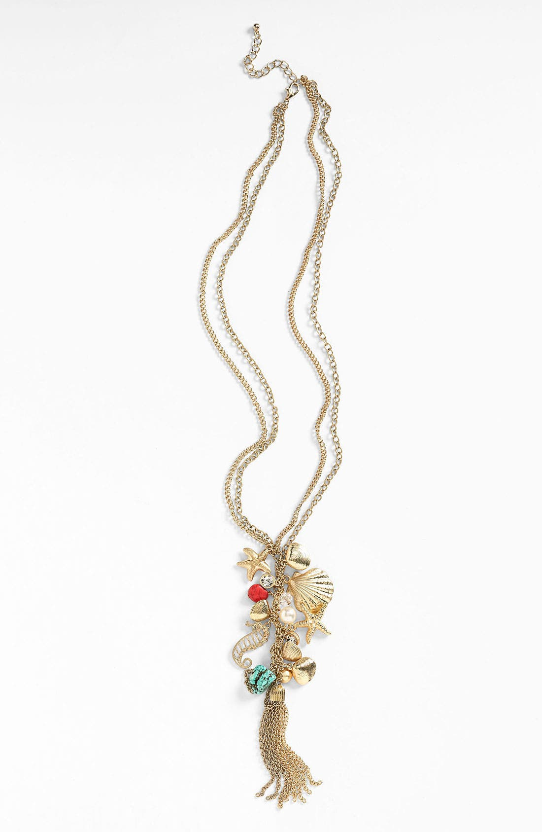Alternate Image 1 Selected - Cara 'Under the Sea' Gathered Charm Necklace