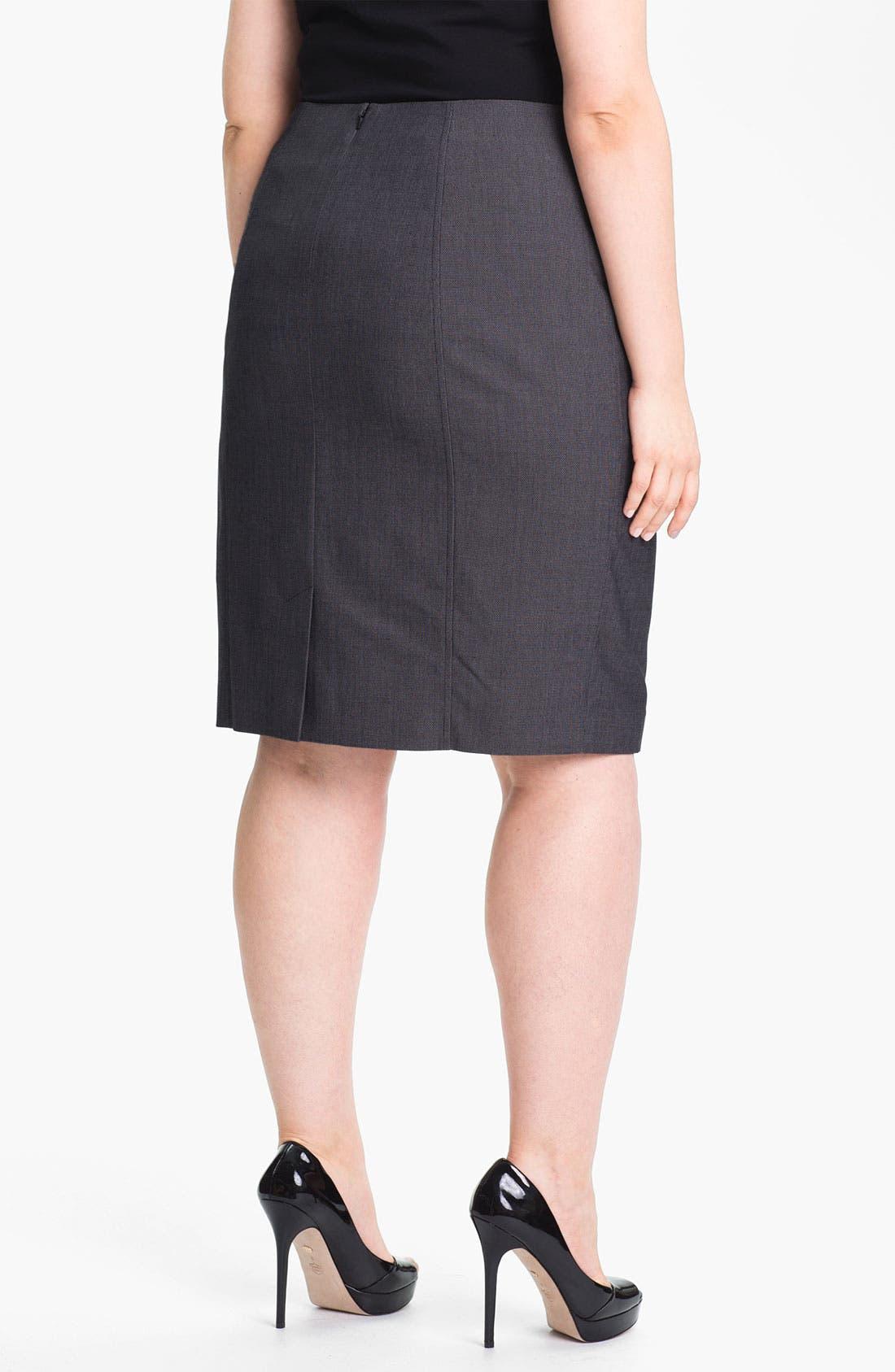 Alternate Image 2  - Sejour 'Zola' Twill Suit Skirt (Plus Size)