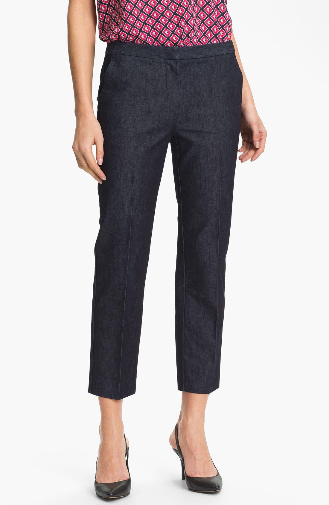 Alternate Image 1 Selected - Halogen® 'Taylor' Curvy Fit Crop Pants