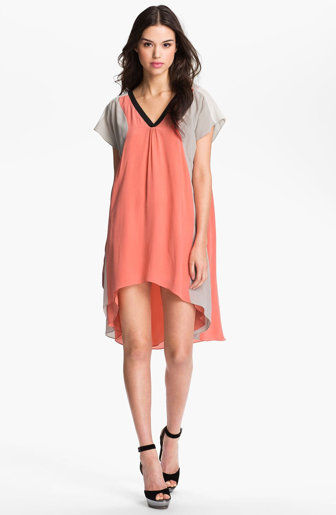 Alternate Image 1 Selected - Rebecca Minkoff 'Jenner' Colorblock Silk Dress