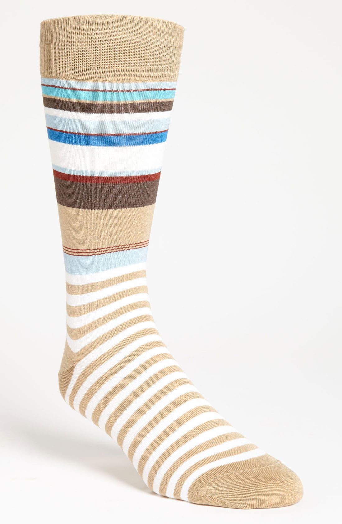 Alternate Image 1 Selected - Bugatchi Multistripe Socks