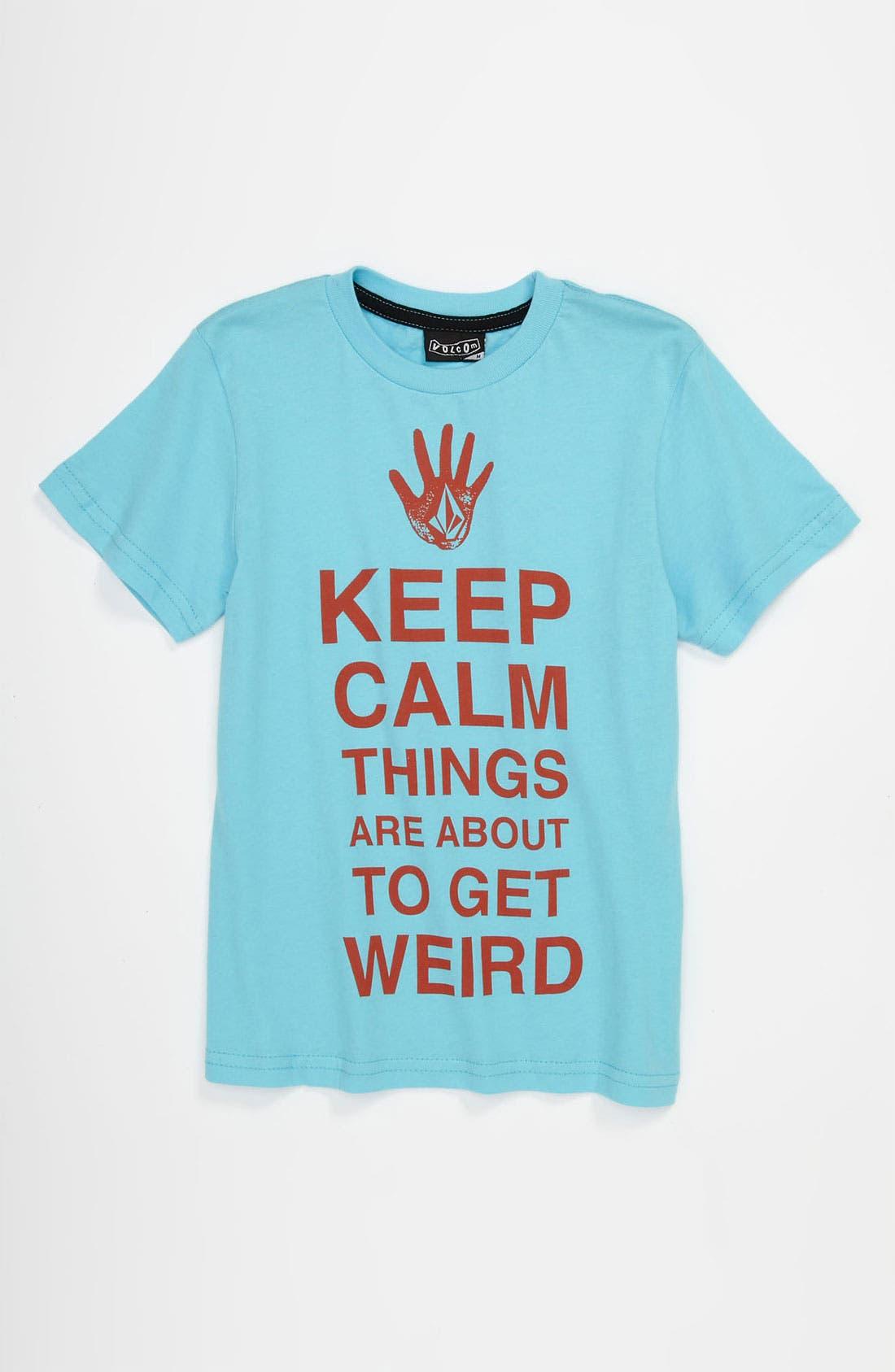 Main Image - Volcom 'About To Get Weird' T-Shirt (Little Boys)