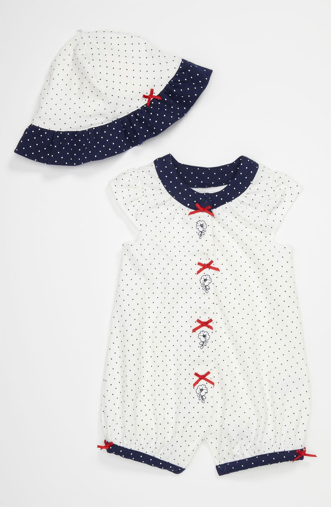 Main Image - Little Me Coveralls & Hat (Infant)