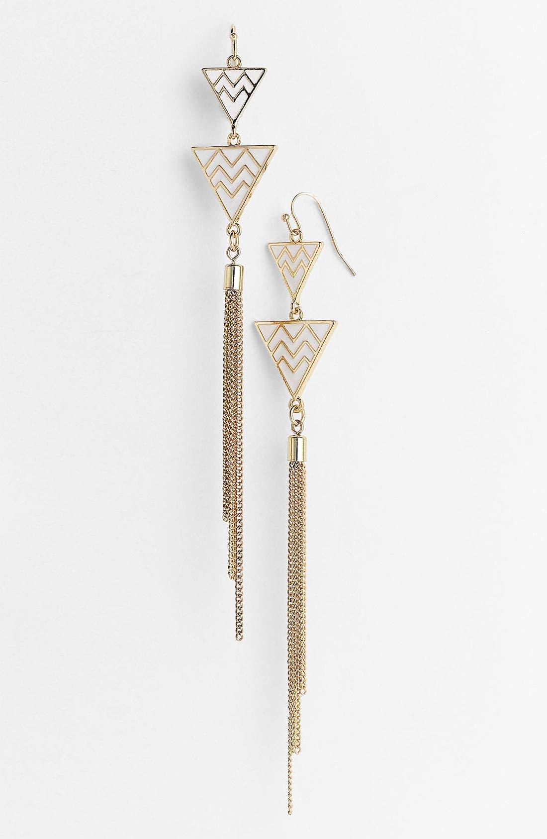 Main Image - Orion Aztec Triangle Drop Earrings