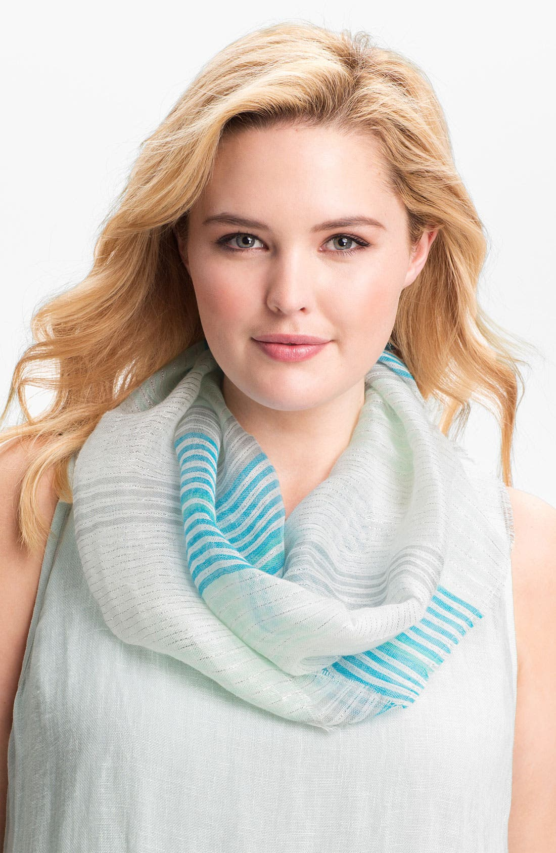 Alternate Image 2  - Eileen Fisher Metallic Threaded Scarf