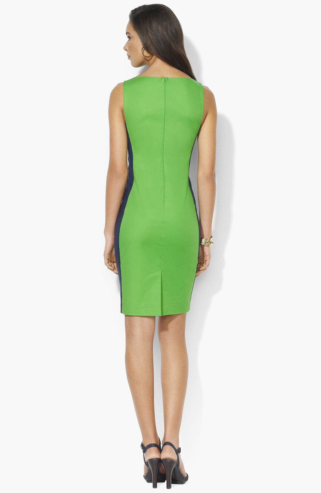 Alternate Image 2  - Lauren Ralph Lauren Colorblock Shift Dress (Petite) (Online Only)