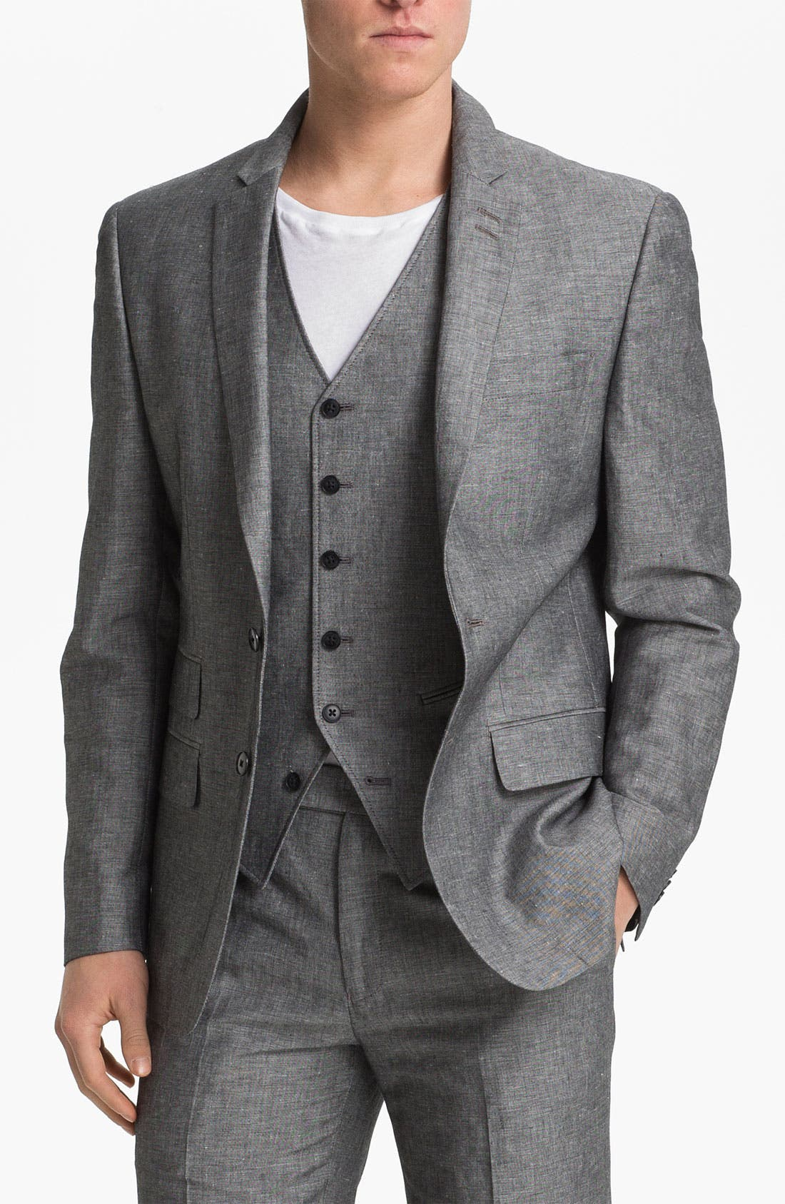 Alternate Image 1 Selected - John Varvatos Star USA Red Label Linen & Cotton Blazer