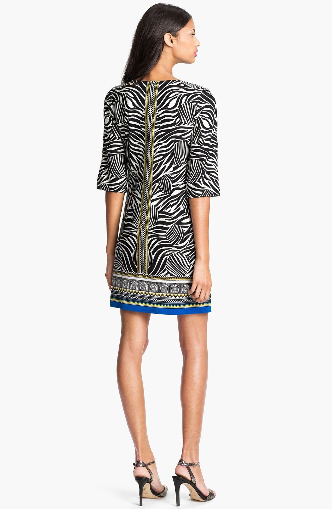 Alternate Image 2  - Laundry by Shelli Segal Print Jersey Dress (Petite)
