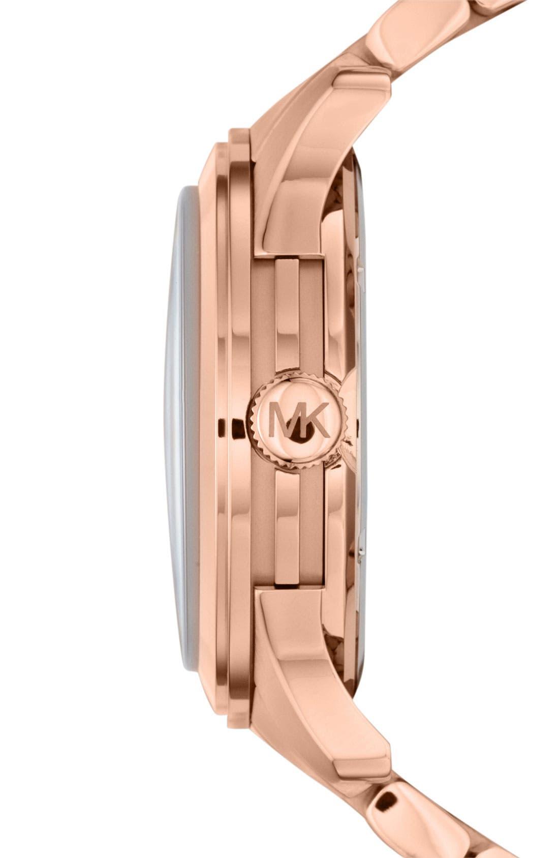 Alternate Image 2  - Michael Kors 'Large Runway' Blue Dial Bracelet Watch, 45mm