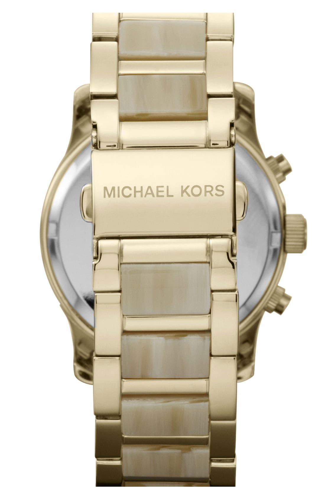 Alternate Image 3  - Michael Kors 'Runway' Chronograph Bracelet Watch, 38mm