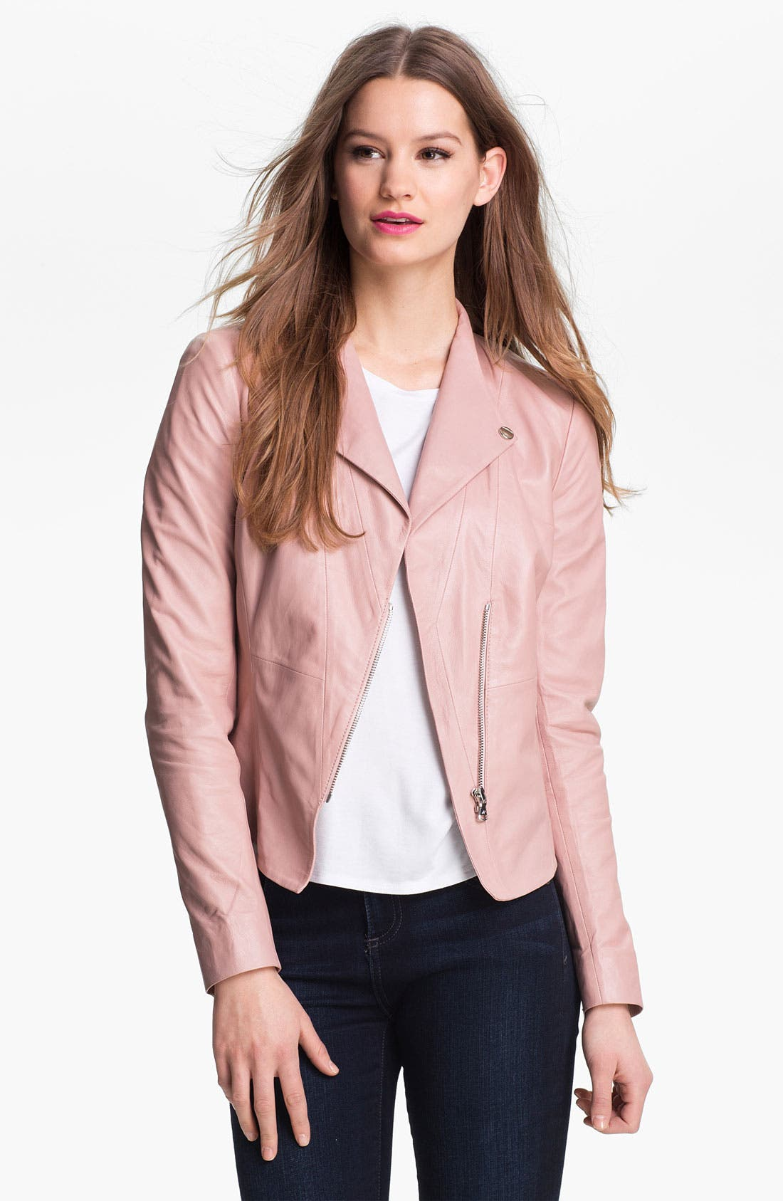 Alternate Image 1 Selected - Kenneth Cole New York 'Lilian' Leather Jacket