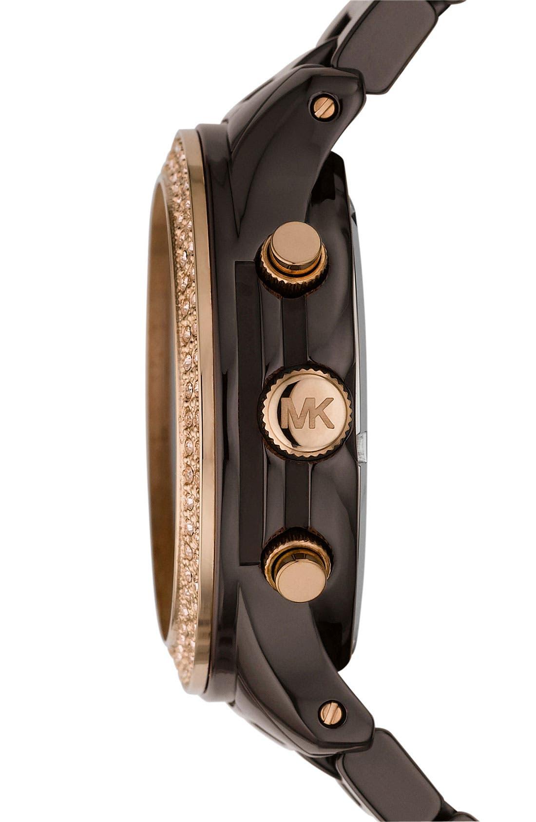 Alternate Image 3  - Michael Kors 'Runway Ceramic' Watch, 40mm