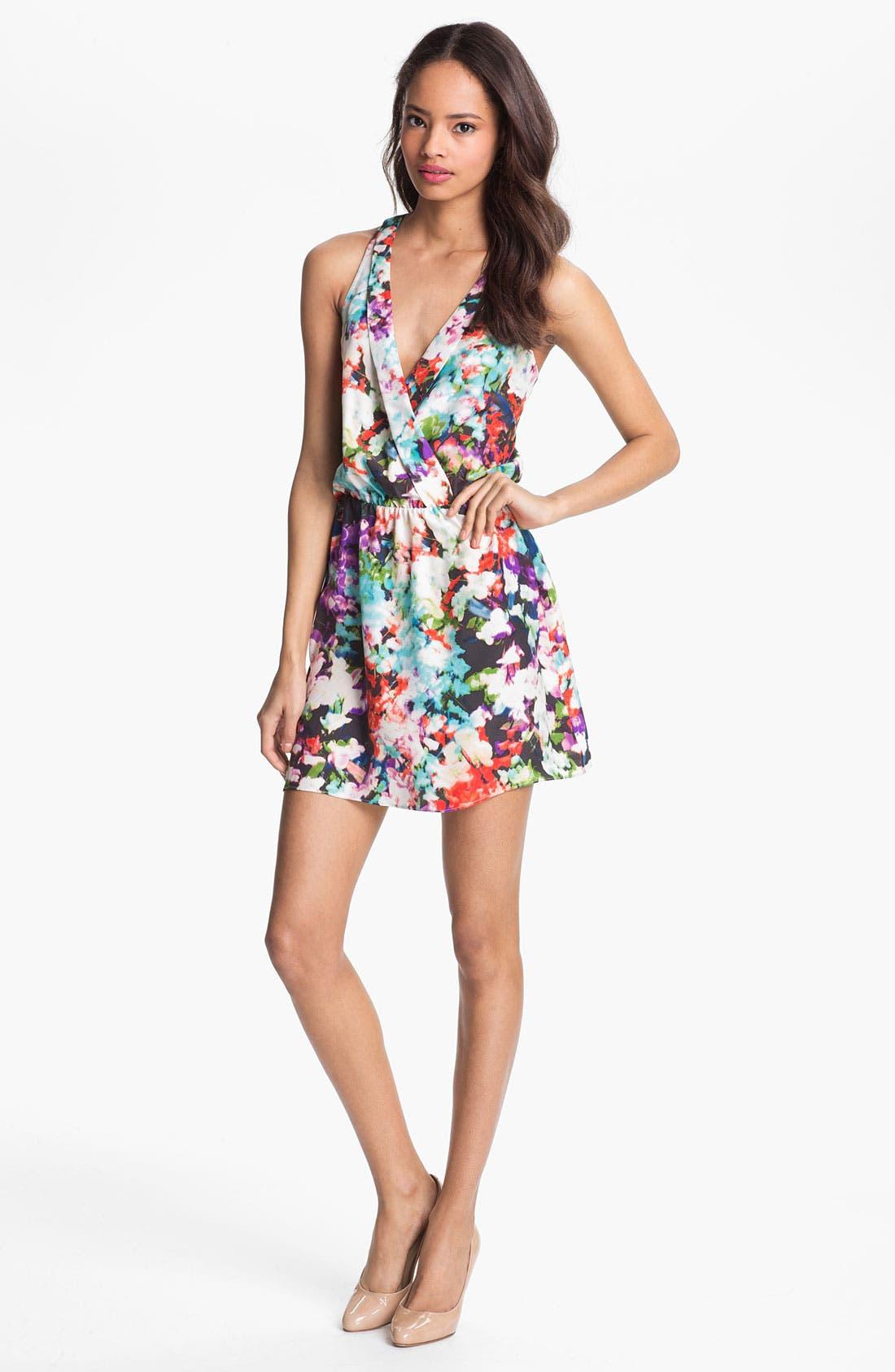 Alternate Image 1 Selected - Parker Surplice Silk Dress