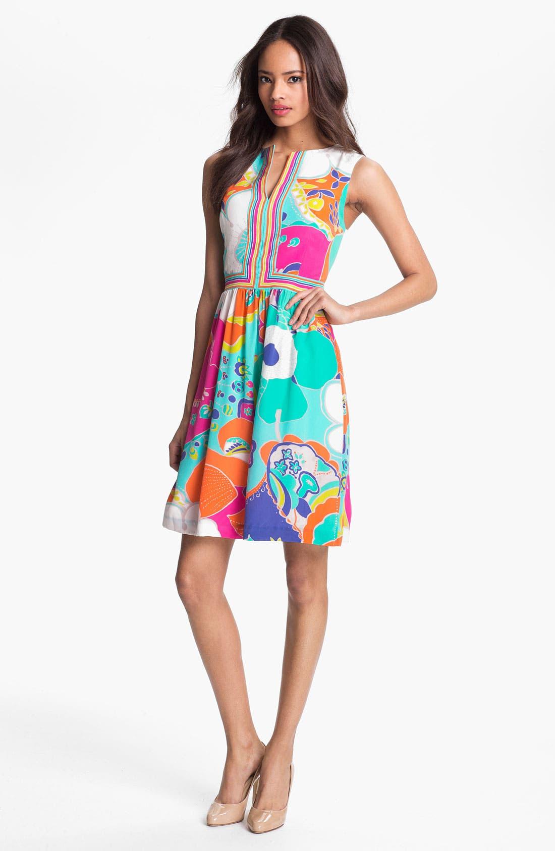 Alternate Image 1 Selected - Trina Turk 'Crushes Sea Cove' Silk A-Line Dress