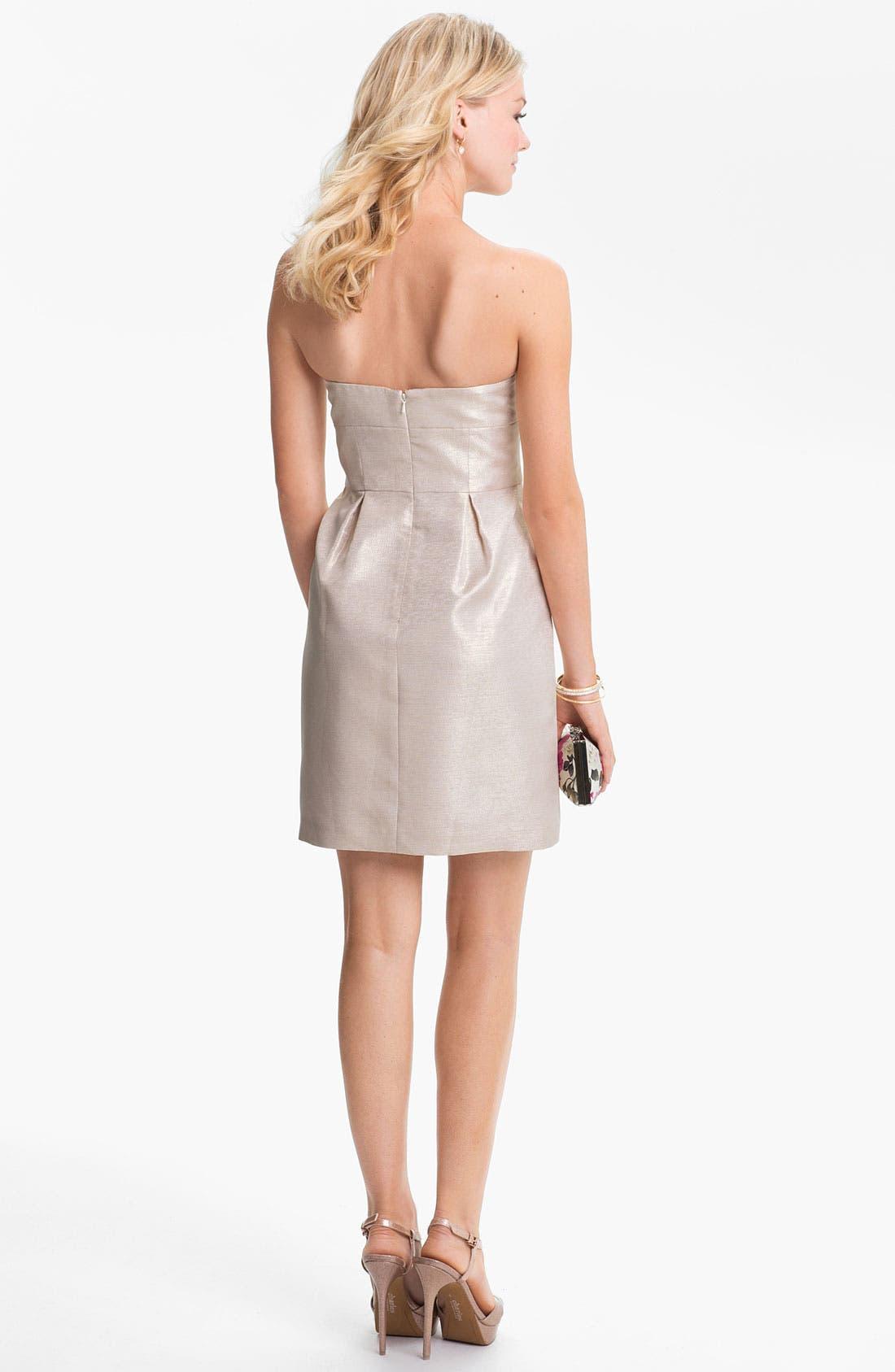 Alternate Image 2  - Aidan Mattox Metallic Strapless Tulip Dress