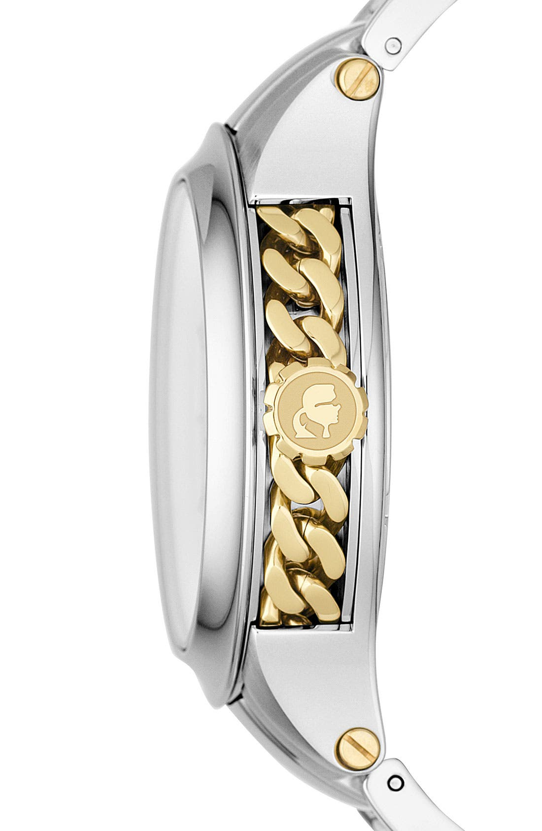 Alternate Image 2  - KARL LAGERFELD Chain Detail Bracelet Watch, 40mm