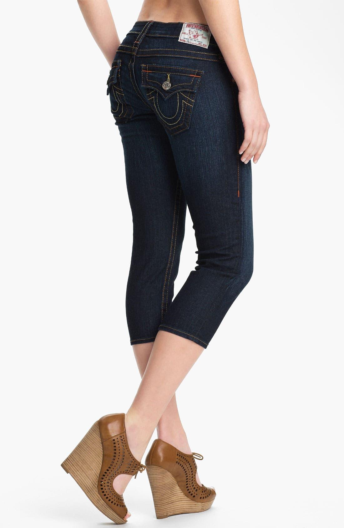 Alternate Image 2  - True Religion Brand Jeans 'Lily' Crop Skinny Jeans (Dark Pony Express)