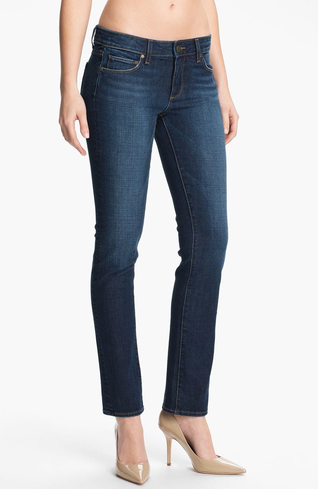 Alternate Image 1 Selected - Paige Denim 'Kelsi' Straight Leg Stretch Jeans (Carley)