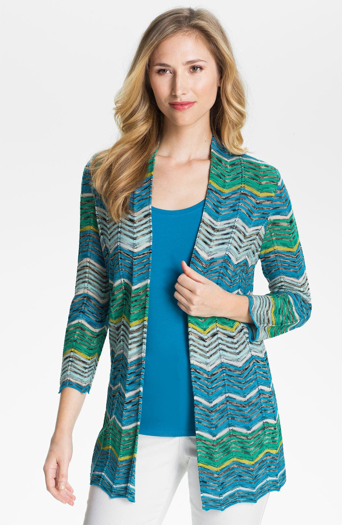 Alternate Image 1 Selected - Nic + Zoe Zigzag Cardigan (Petite)