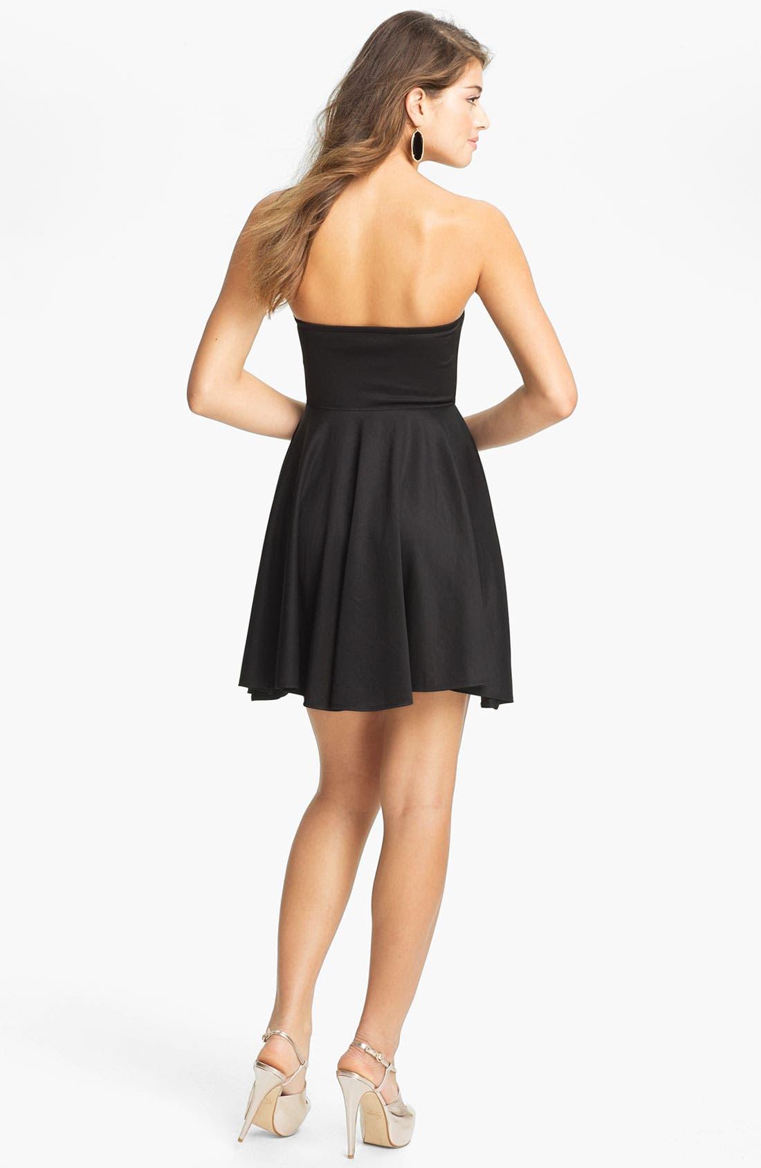 Alternate Image 2  - BLAQUE LABEL Strapless Fit & Flare Dress