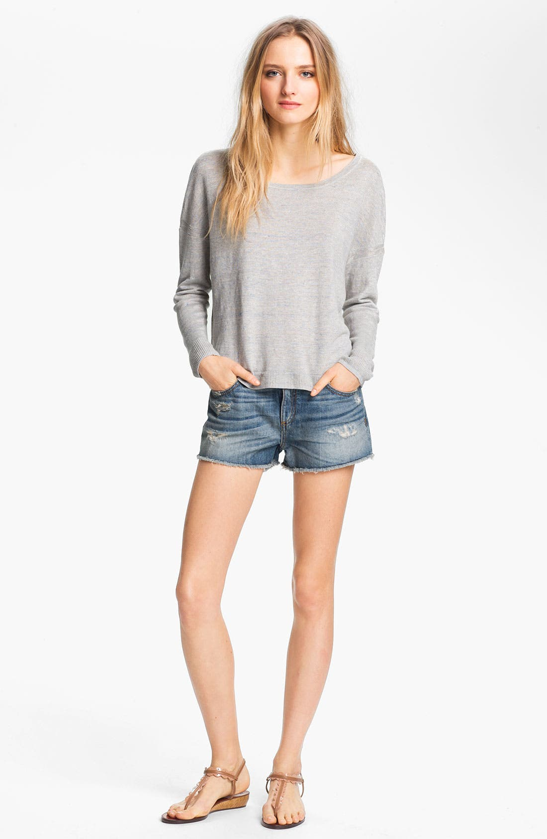 Alternate Image 1 Selected - rag & bone 'Sander' Linen Pullover