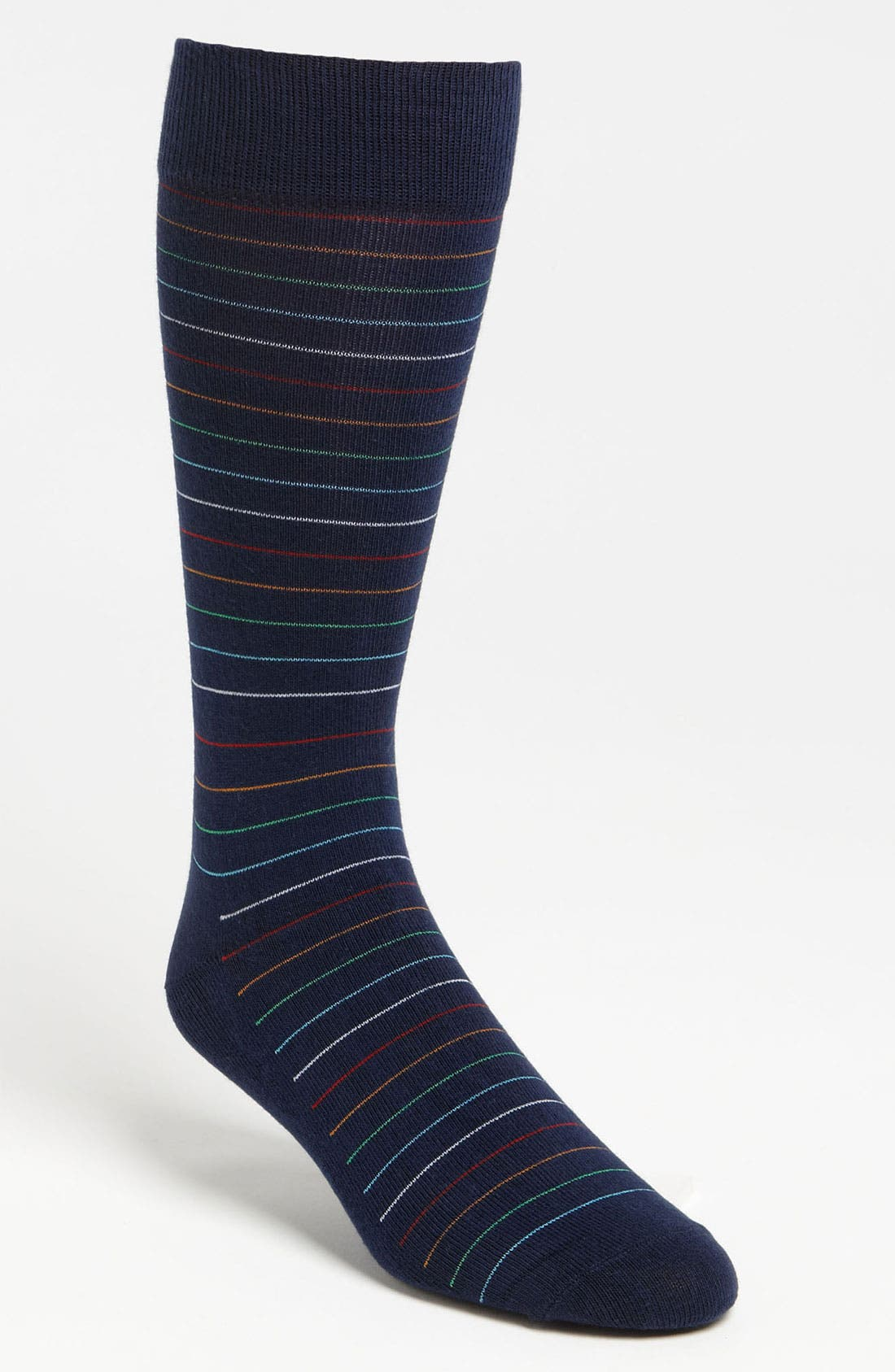 Main Image - Happy Socks Patterned Combed Cotton Blend Socks