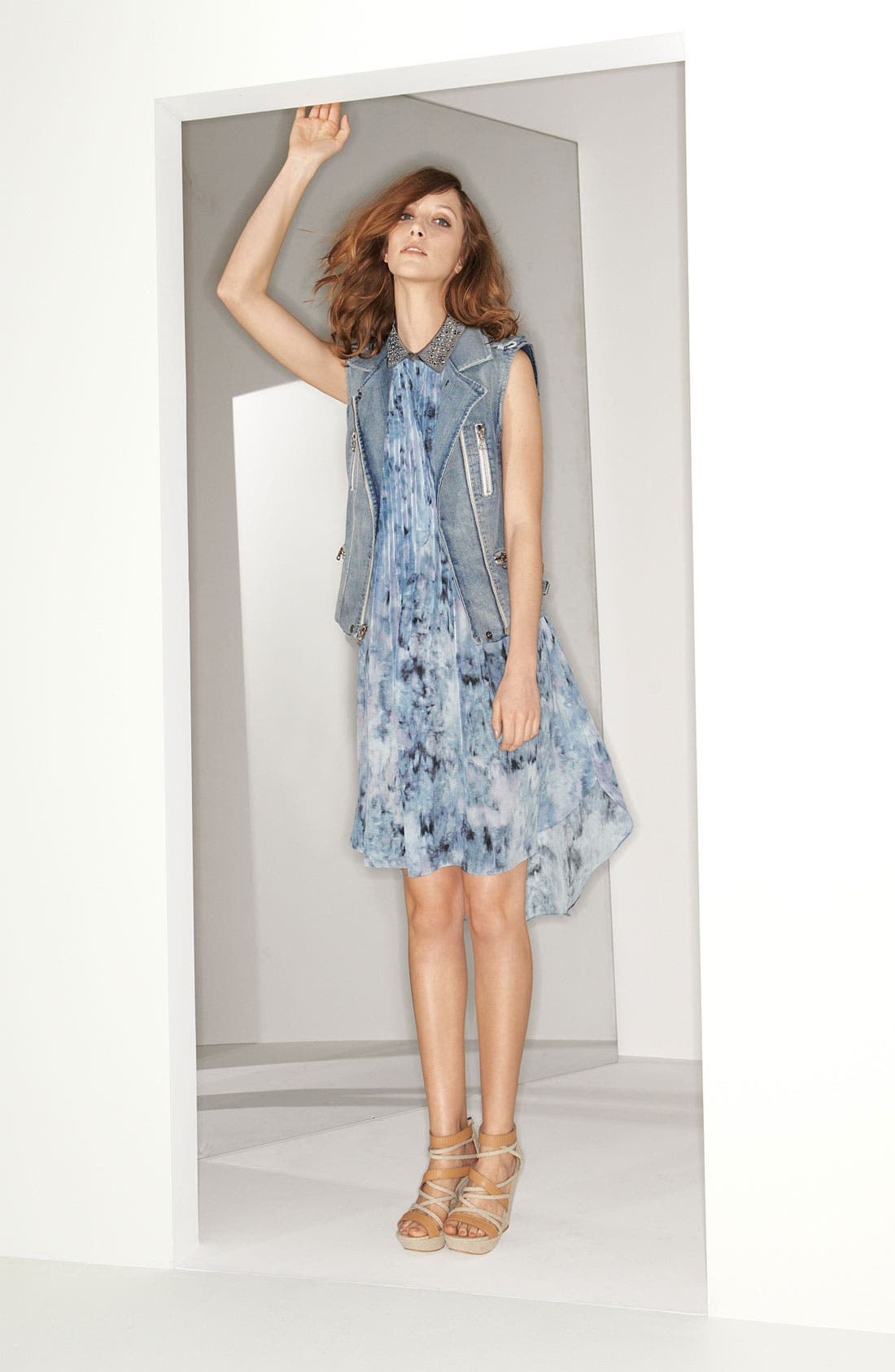 Alternate Image 4  - Rebecca Taylor Pintuck Silk Shirtdress