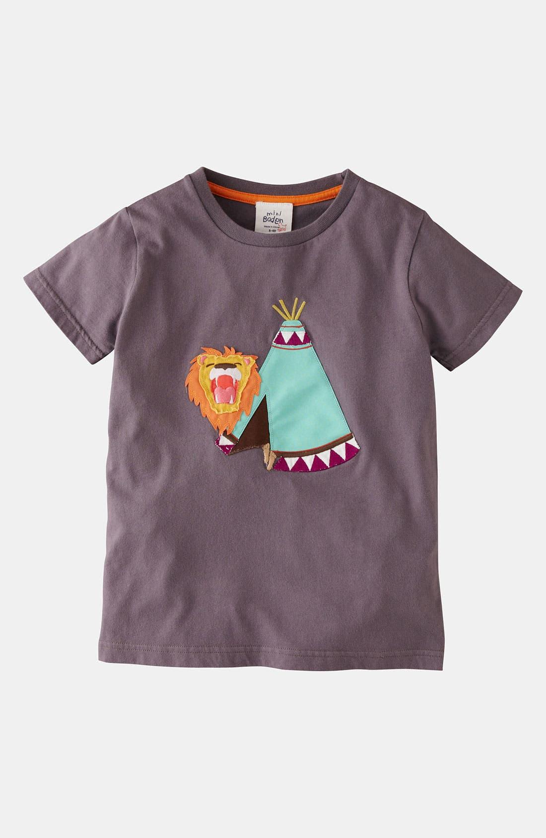 Alternate Image 1 Selected - Mini Boden 'Adventure Appliqué' T-Shirt (Toddler, Little Boys & Big Boys)