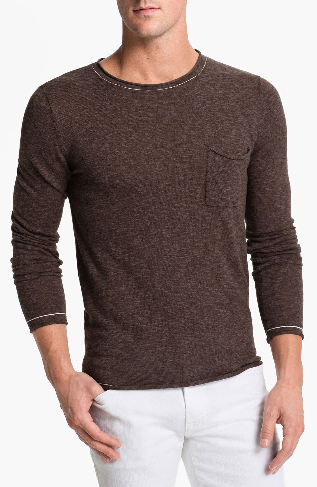 Alternate Image 1 Selected - Antony Morato Slub Crewneck Sweater
