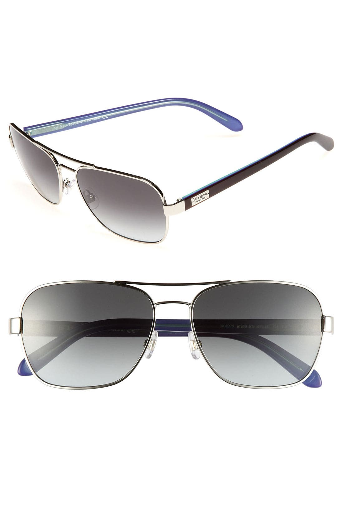 Main Image - kate spade new york 'agda' 56mm navigator sunglasses