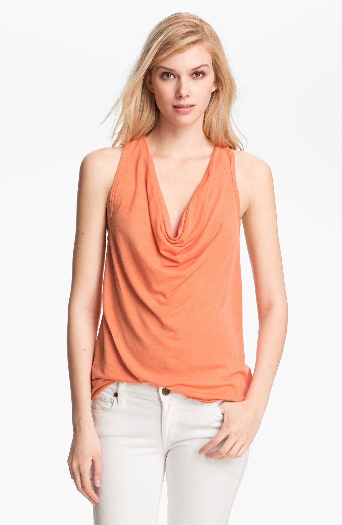 Alternate Image 1 Selected - James Perse Cowl Neck Racerback Tank