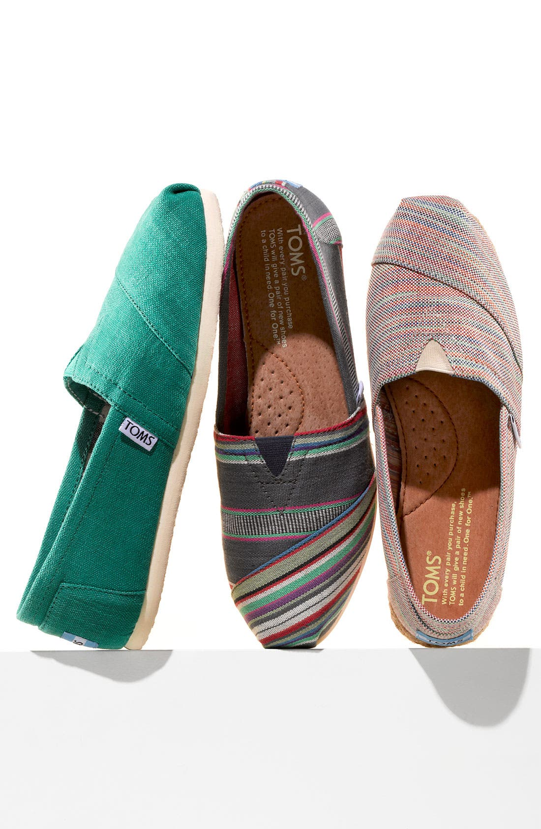 Alternate Image 7  - TOMS 'Classic - Stripe' Slip-On (Women)