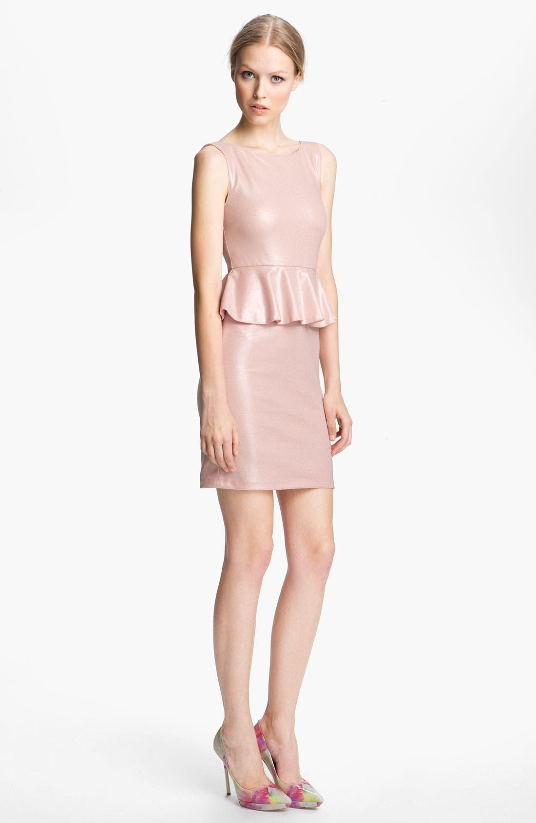 Alternate Image 1 Selected - Alice + Olivia Peplum Dress