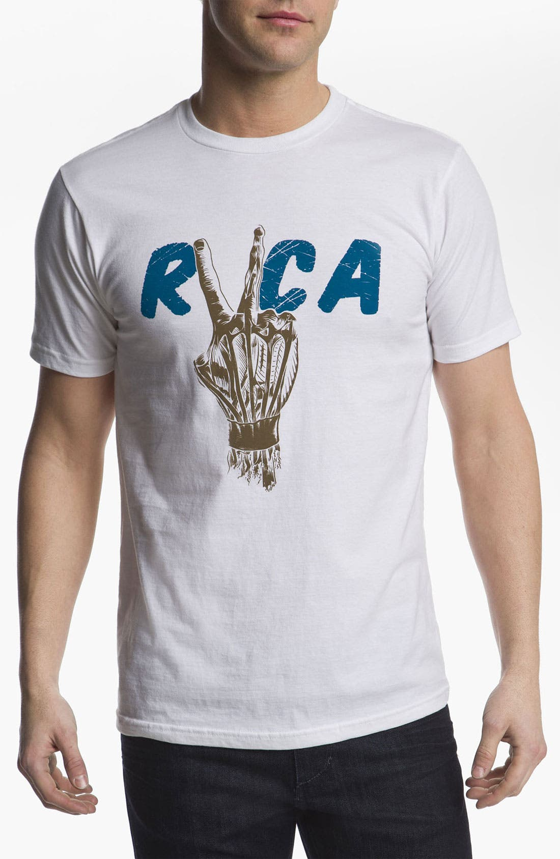 Alternate Image 1 Selected - RVCA 'Hand Study' T-Shirt