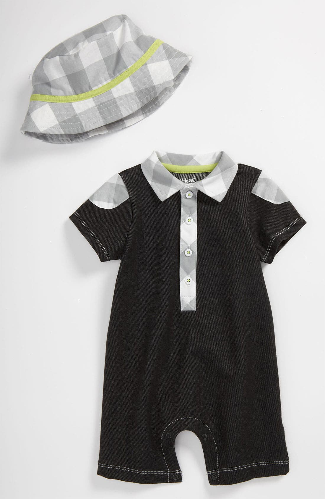 Alternate Image 1 Selected - Little Me 'On Safari' Romper & Hat (Infant)