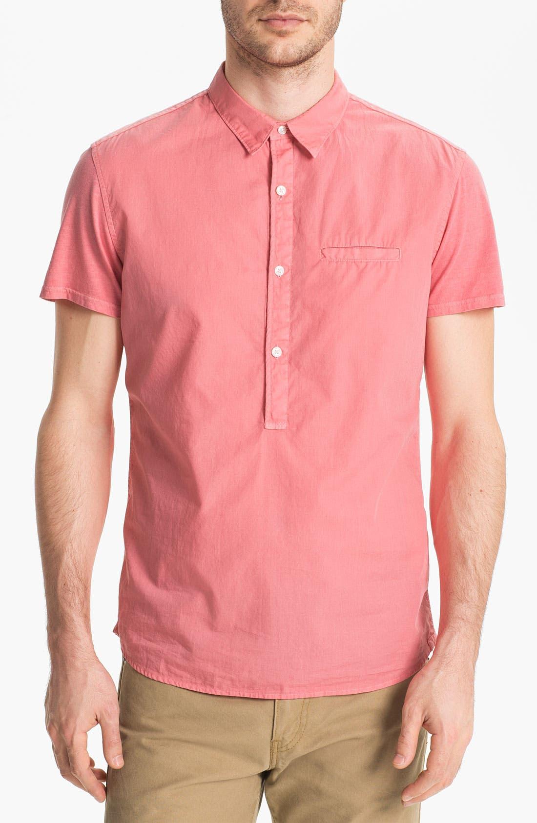 Main Image - Edun Short Sleeve Woven Pullover Shirt