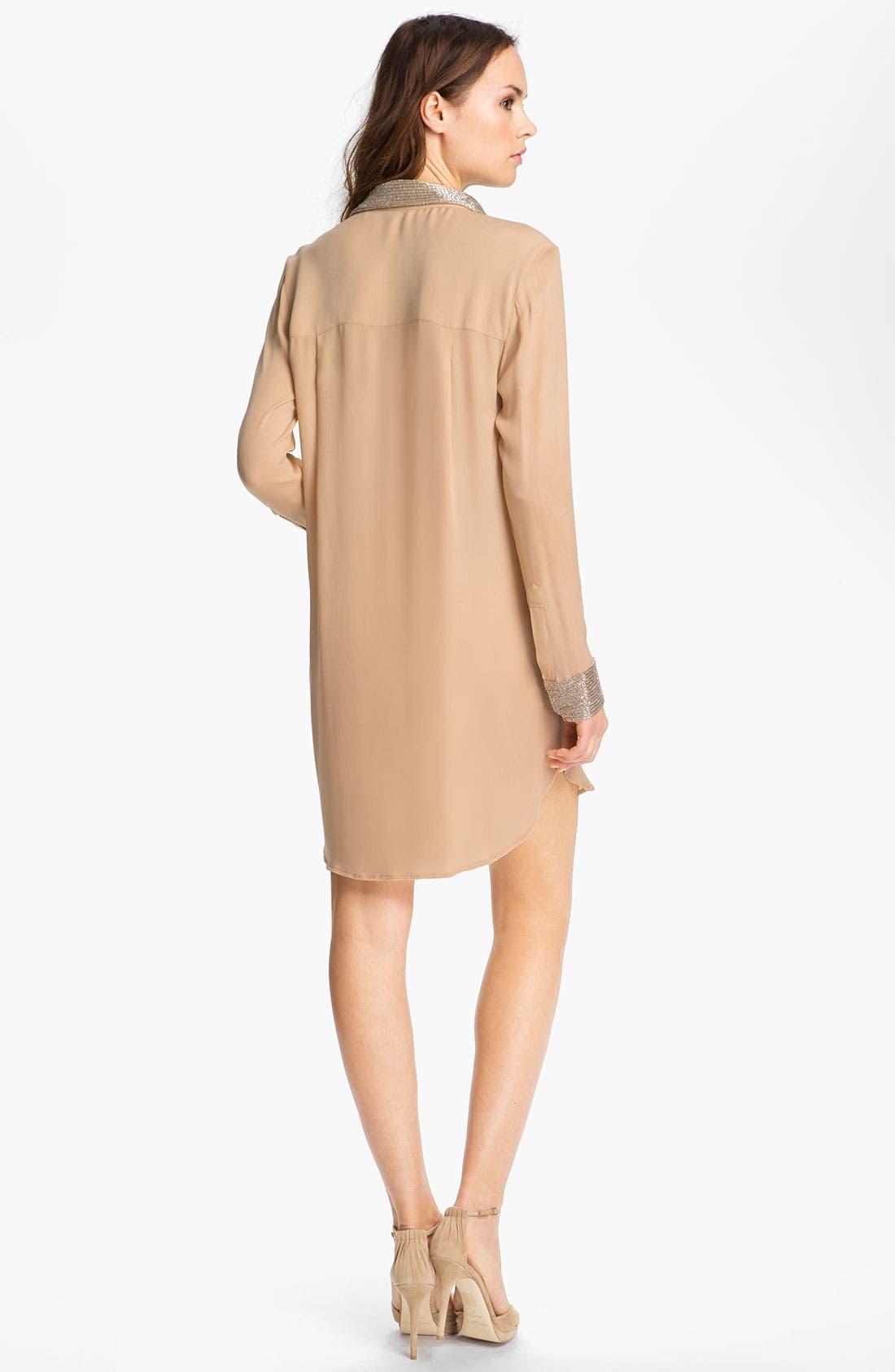 Alternate Image 2  - Haute Hippie Embellished Silk Shirtdress