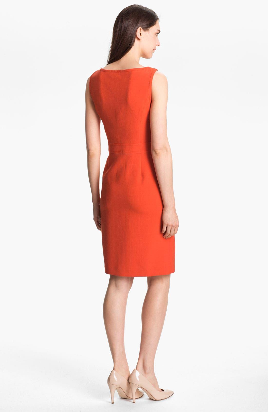 Alternate Image 2  - Tory Burch 'Zachary' Wool Blend Sheath Dress
