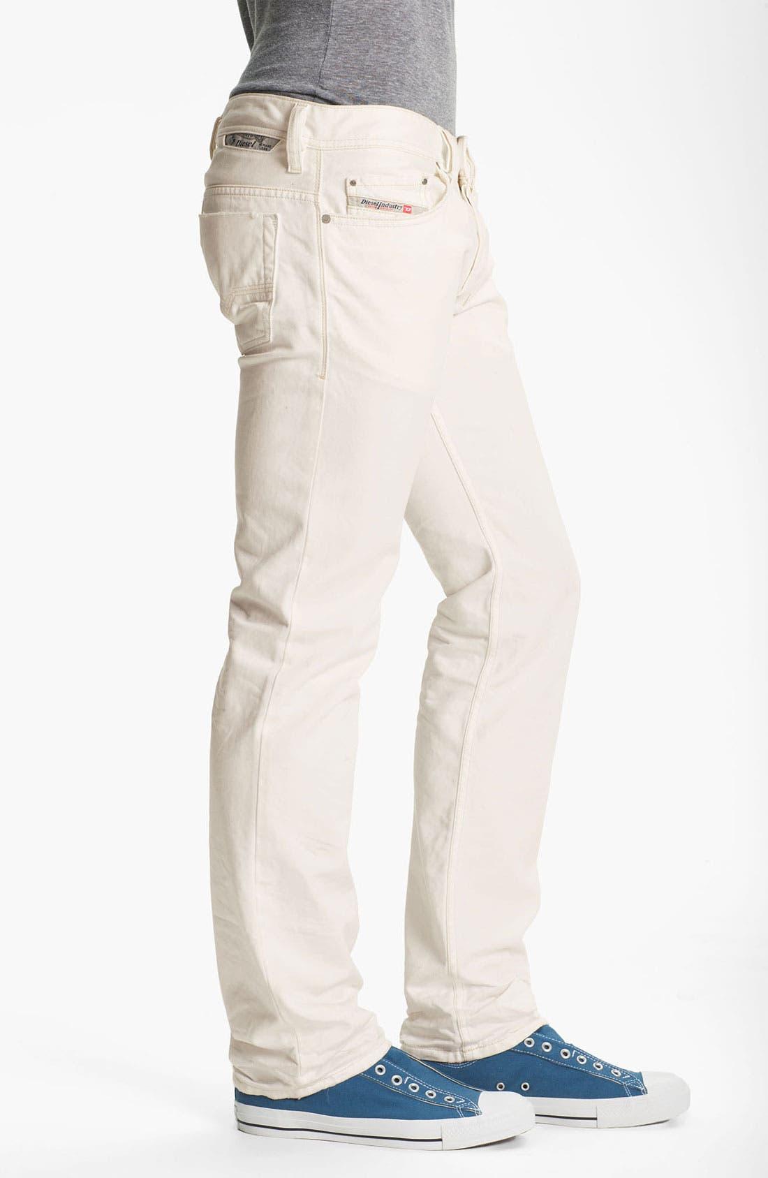Alternate Image 3  - DIESEL® 'Safado' Slim Fit Jeans (Pure White)