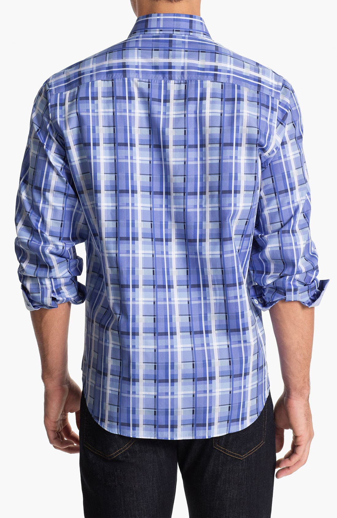 Alternate Image 2  - BUGATCHI Classic Fit Sport Shirt (Tall)