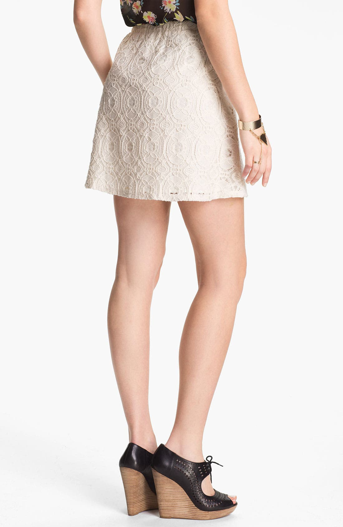 Alternate Image 2  - Lily White Lace Skirt (Juniors)