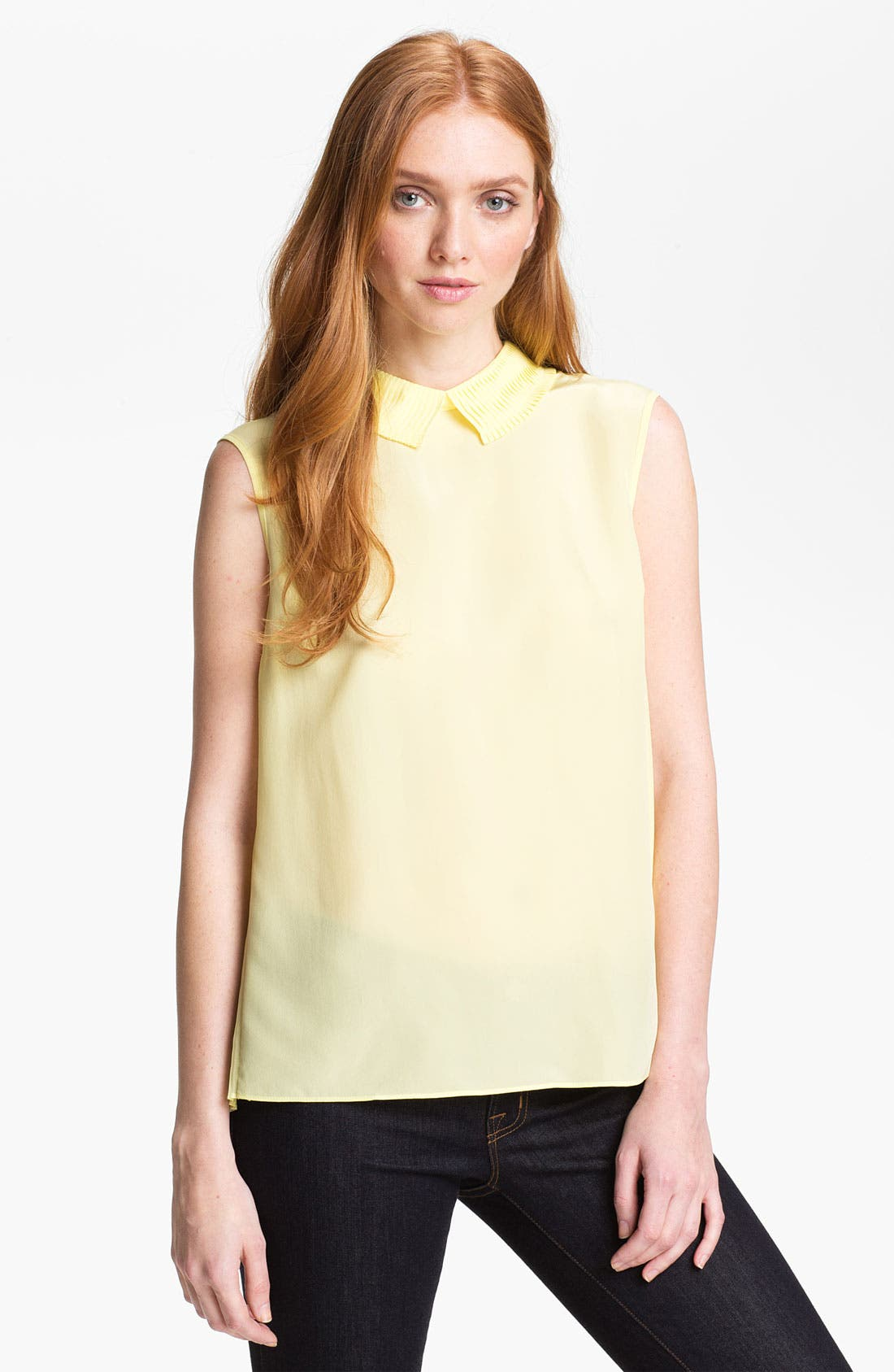 Alternate Image 1 Selected - Ted Baker London Pleated Top (Online Only)