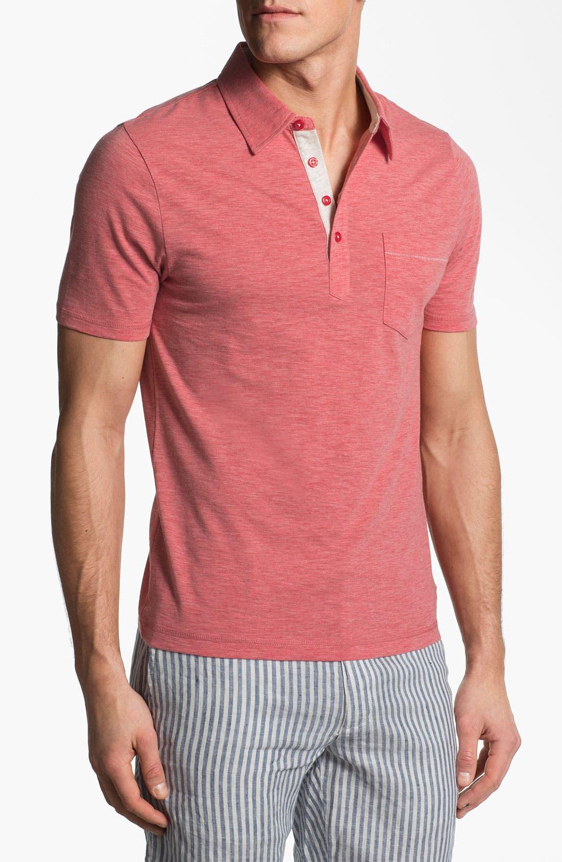 Main Image - Original Penguin 'Bing' Slub Jersey Polo Shirt