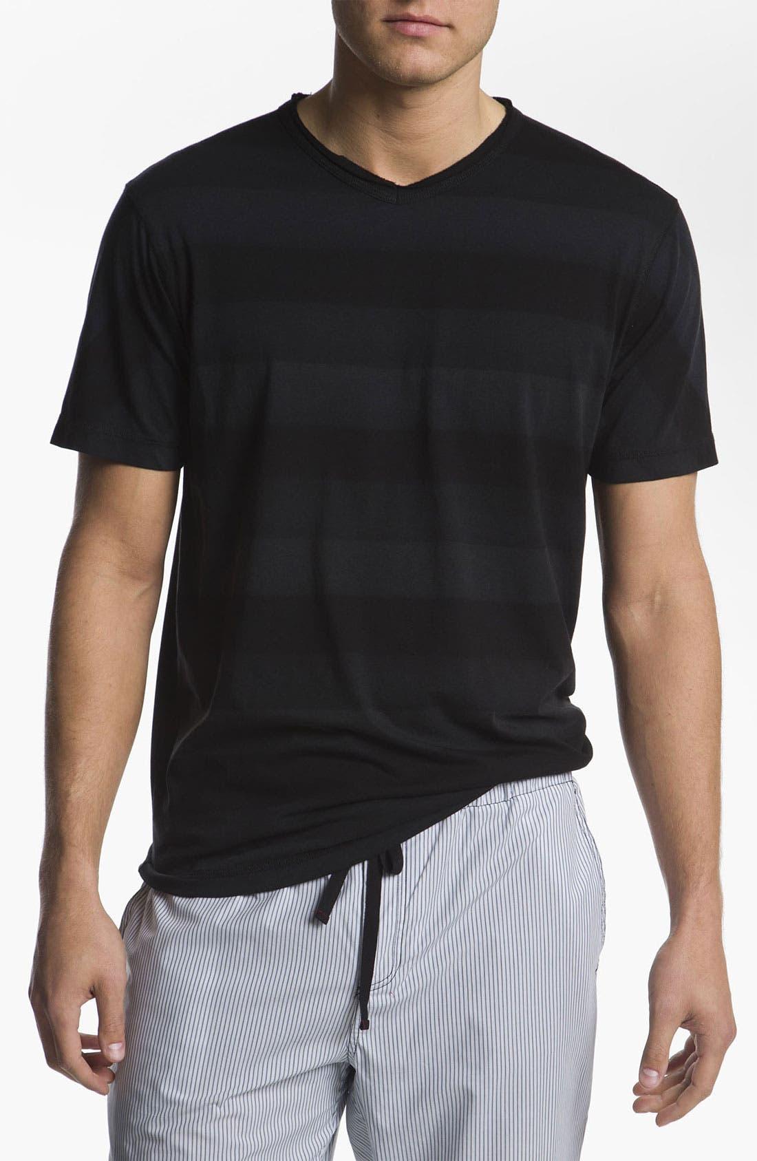 Alternate Image 1 Selected - Daniel Buchler Hand Painted Peruvian Pima Cotton T-Shirt