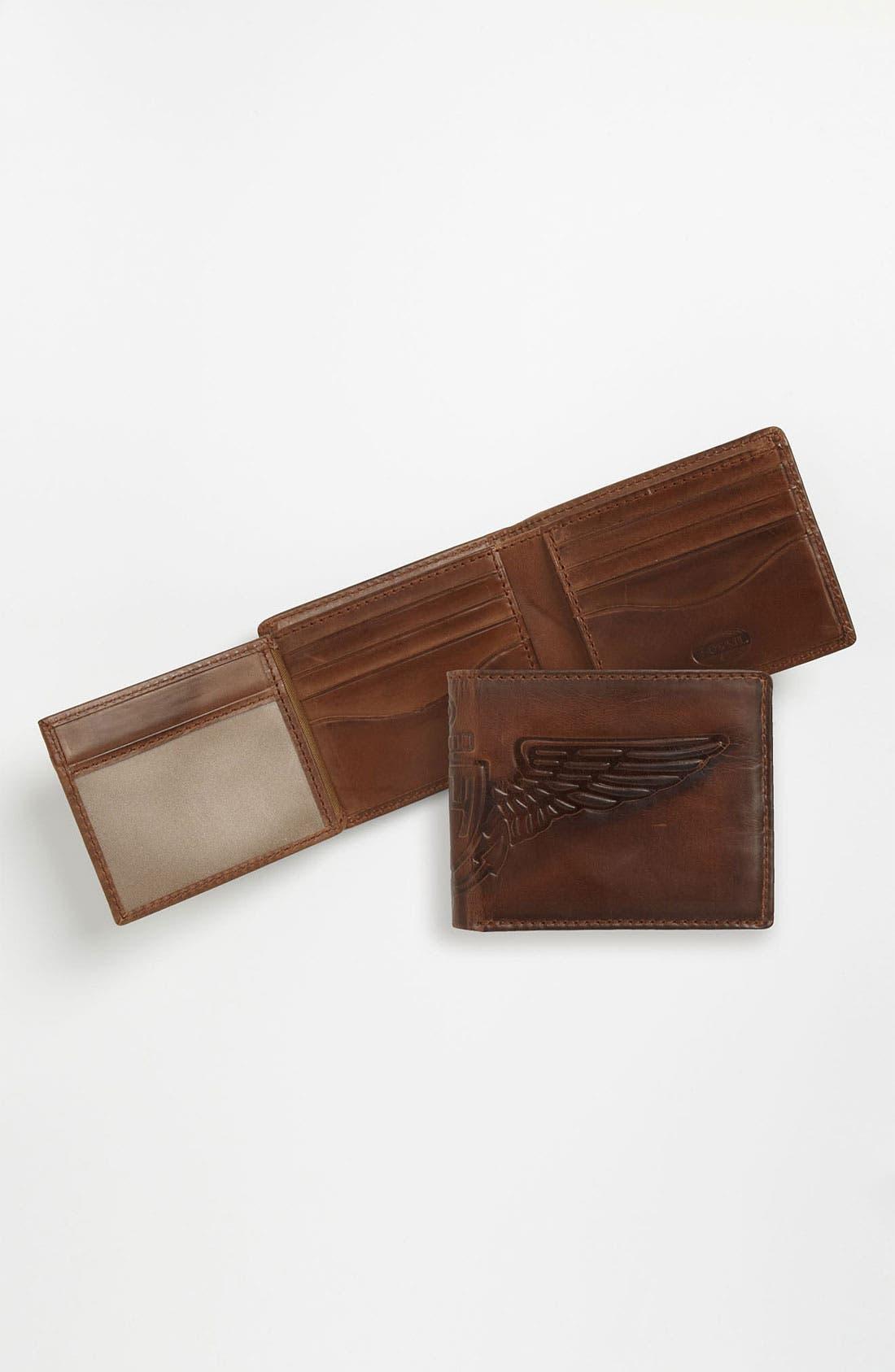 Main Image - Fossil 'Flatiron Traveler' Wallet