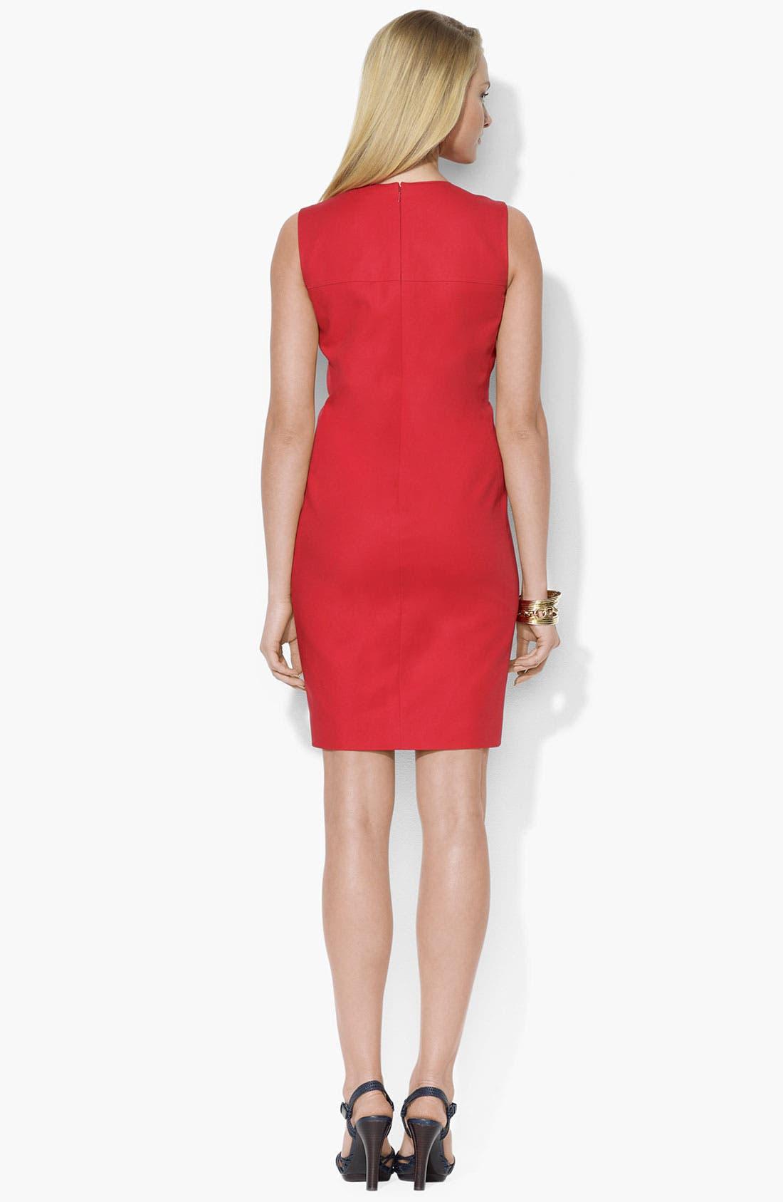 Alternate Image 2  - Lauren Ralph Lauren Crewneck Shift Dress