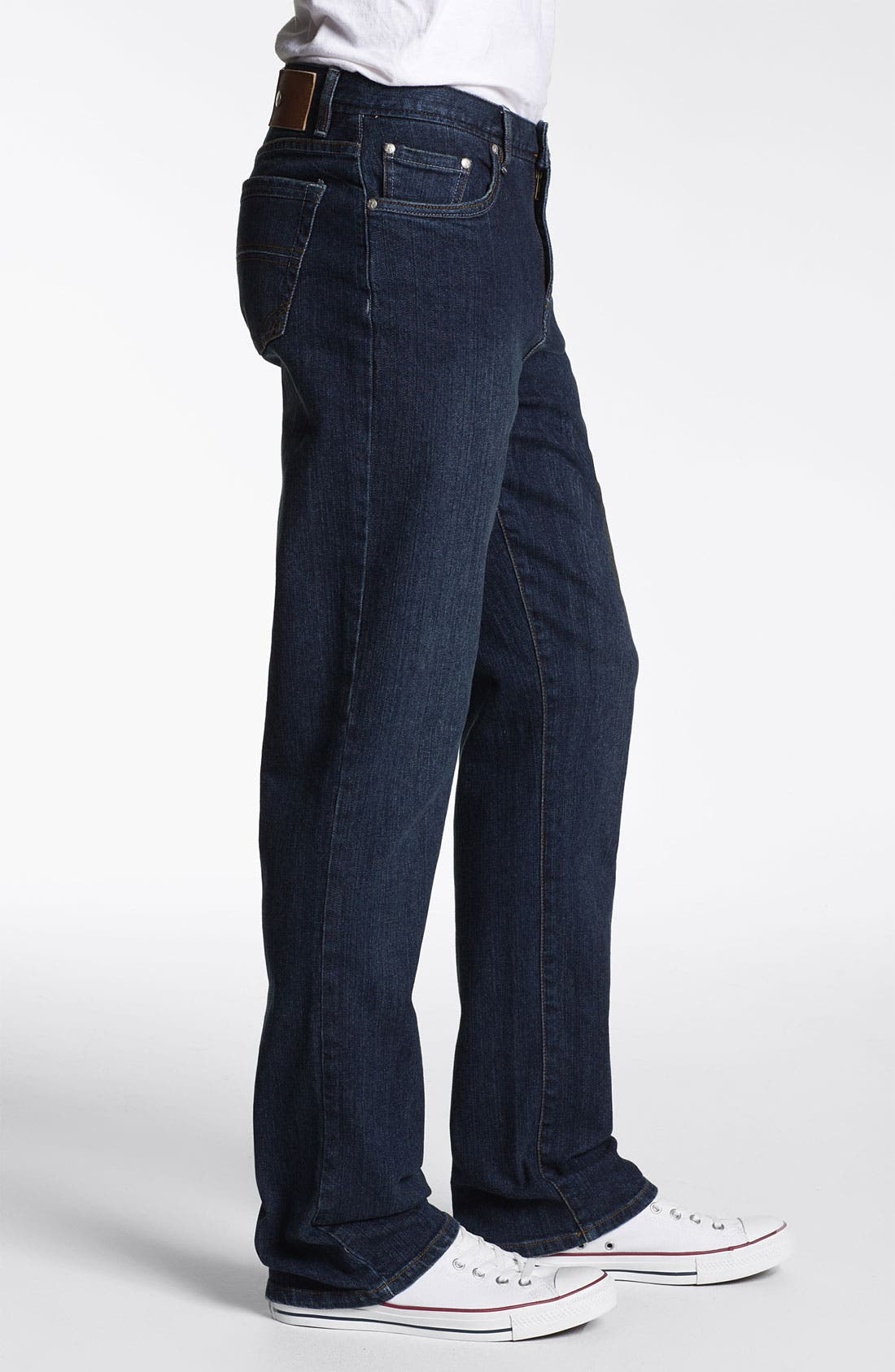 Alternate Image 3  - ROAD 'Abbey Stretch' Relaxed Fit Straight Leg Jeans (Dark Wash)