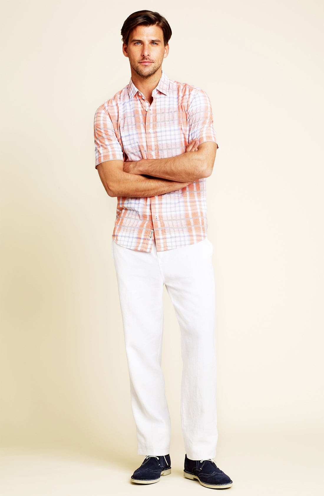 Alternate Image 4  - Tommy Bahama 'Plaidlantic' Regular Fit Short Sleeve Sport Shirt